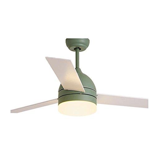 XX Ventilatoren Tischventilatoren Fan Licht Deckenventilator Licht Amerikanischen Einfachen Wohnzimmer Esszimmer Schlafzimmer Stillen Lüfter Kronleuchter (Farbe : Grün, Größe : 48 inch)