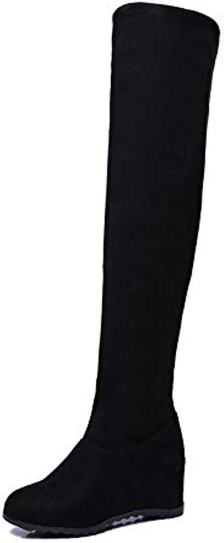 ZHZNVX Stivali da Donna Stivali in Pelle Sintetica Effetto Autunno e Inverno Stivali con Tacco a Punta rossoonda... | Liquidazione  | Scolaro/Ragazze Scarpa