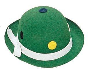 Mini-Melone Clown-Hut mit Punkten grün-bunt (Melone Clown Mini Hut)
