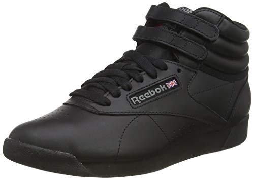 Reebok Freestyle Hi - Zapatillas de cuero para mujer, Negro Black, 37.5 EU