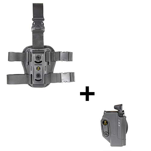 IDS S&W Holster + Dropleg Thigh rig platform, Tactical Thmub release safety Holster 360 roto retention adjustment paddle fits Smith & Wesson M&P 9mm, .40cal, .22cal & .45cal, M&P M2.0 in 9mm, .40cal & .45cal, SD9, SD40, SD9VE