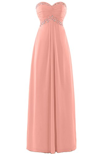 Gorgeous Bride Zauberhaft Abendmode Lang Tüll Empire Abendkleider Festkleider Ballkleider Orange-Rosa