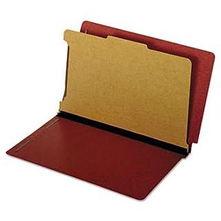 Dual Tab Classification Folder, 2 Sections, Top/End Tab, Legal, Kraft, 10/BX