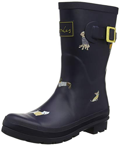 Joules Damen Molly Welly Gummistiefel, Blau (Navy Harbour Dogs NAVHRBDOGS), 42 EU -