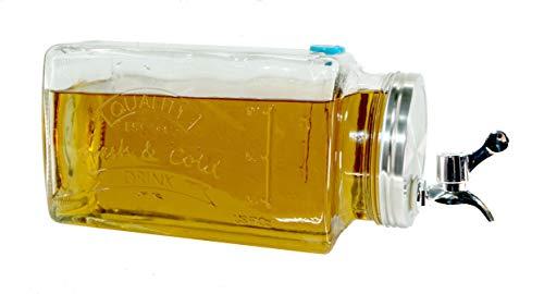 Getränkespender für den Kühlschrank - 3 L mit Zapfhahn - Wasser Saft Spender Dispenser (Kühlschrank Zapfhahn Mit)