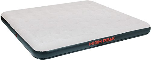 High Peak King Cama Hinchable, Gris Oscuro / Gris Claro, 200 x 185 x 20 cm