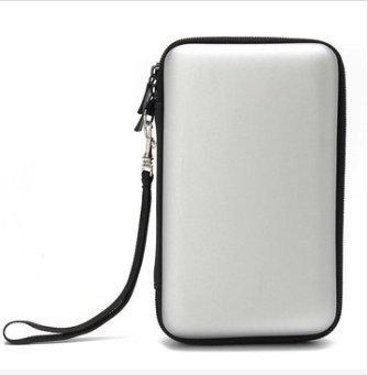 GOZAR Eva Hard Schutzhülle Tasche Cover Griff Tasche Für Nintendo New 2Ds Ll / Xl - Silber