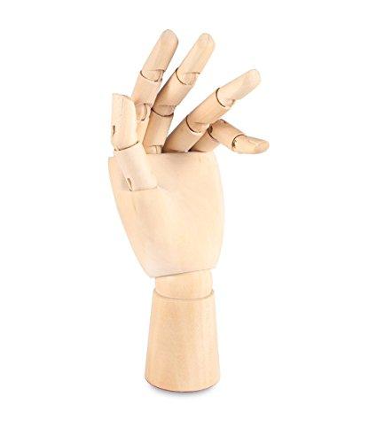 Hand aus Holz, hübscher Kunstartikel, mit Gelenken und flexiblen Fingern, zum Malen, Skizzieren, Zeichnen 7