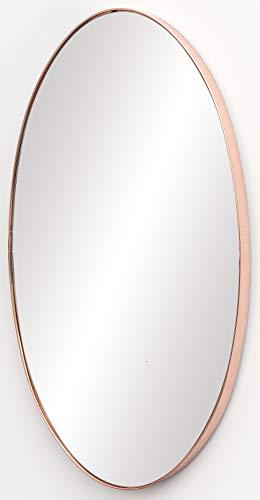 FineBuy Wandspiegel 45x80x4 cm Spiegel mit Rahmen Kupfer Flurspiegel Groß | Hängespiegel Flur zum Aufhängen | Garderobenspiegel Wand Modern | Dekospiegel Wohnzimmer Schlafzimmer