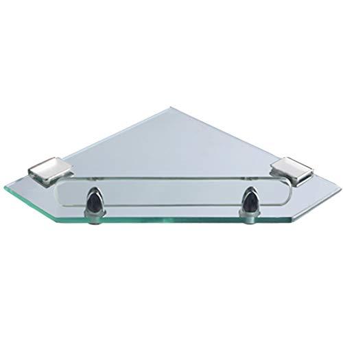 KKCF Dusche Rack Eckablage Wandhalterung Lager Dreieck Wasserdicht Leitplanke Mit Haken Dauerhaft Glas, 8 Größen (Farbe : Klar, größe : A)