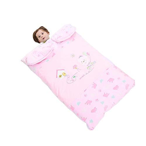 THBEIBEI Sacco a Pelo in Cotone per Bambini Sacco a Pelo Invernale (Color : Pink, Size : S)