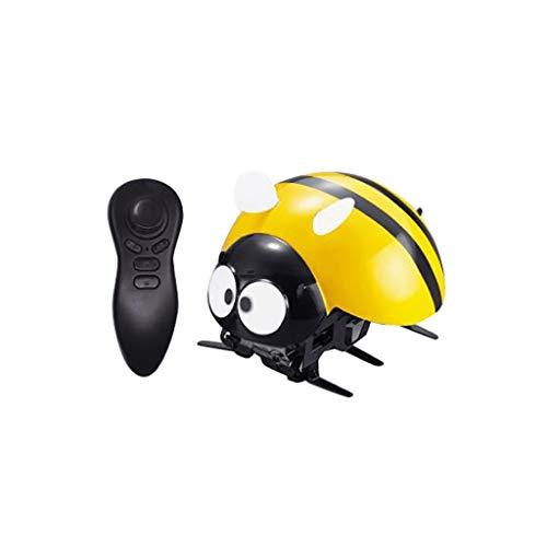 Fcostume Ladybug Elektronische RC Spielzeug DIY Intelligente 2,4 GHz Drahtlose Fernbedienung Roboter Spielzeug lustige RC Streich Witz beängstigend Trick Spielzeug (Gelb)