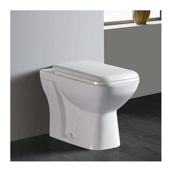 Ceramic Concealed Floor Mounted Water Closet Western EWCS ''S or ''P'' Trap with Soft Close Seat Cover (Super White) (S Trap)