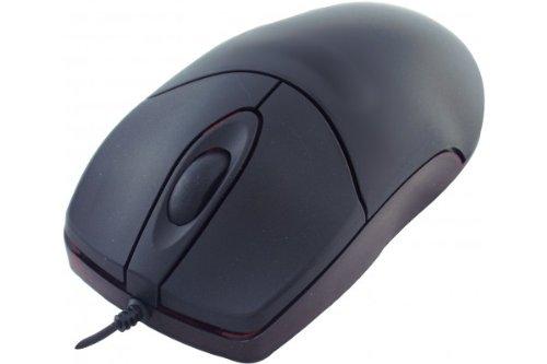 Dacomex Optische Maus, 2 Tasten, PS/2, 1 Scrollrad, schwarz -