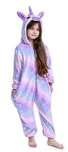 Pijama infantil de unicornio, unisex,