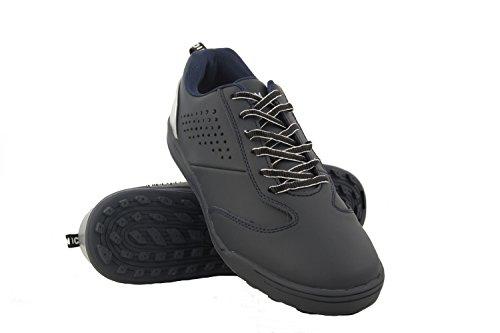 Zerimar Scarpe da Golf da Uomo | Scarpe Sportive da Uomo | Calzature Sportive per Il Golf | Scarpa Sportiva da Uomo in Pelle | Scarpe Sportive Golf | Colore Blu Navy Taglia 40