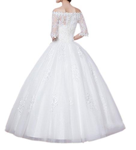 Ikerenwedding - Robe - Trapèze - Femme Small Blanc