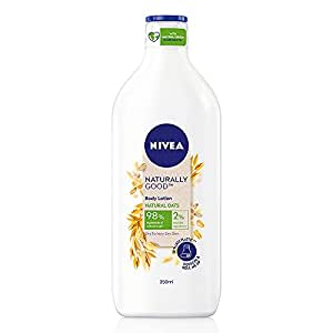 Nivea Naturally Good, Natural Oats Body Lotion, For Dry to Very Dry Skin, No Parabens, 98% Natural Origin Ingredients, 350 ml
