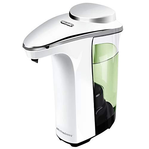 BRIAN & DANY Dispensador de jabón, Sensor automático táctil, Bomba de jabón, 500 ML, 5 Niveles Ajustables
