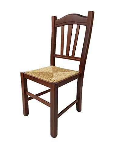 Sedia impagliata cucina in ciliegio   Grandi Sconti   sedie ...