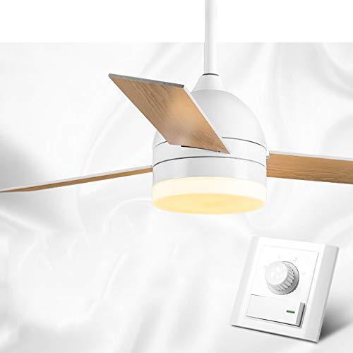 Deckenventilator Licht, einfache moderne Retro-Fernbedienung mit Entwurf Motor Dimming Deckenventilator Kronleuchter Leuchte Wandsteuerung, 42 Zoll -