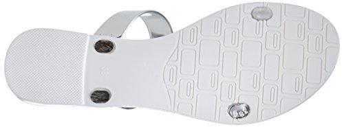 Buffalo Xj 05, Chaussures de piscine et plage femme Blanc - Weiß (WHITE 17)
