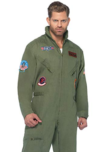 Kostüm Gun Flight Top - Top Gun Men's Flight Suit Costume Adult Medium/Large