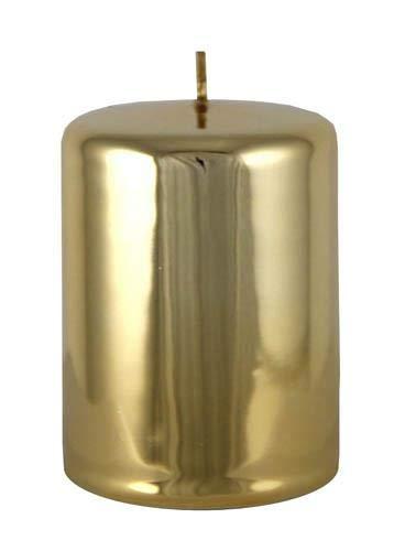 Kaheku Zylinder Kerze Sicilia Gold Glanz 7 Ø 10h 100900238