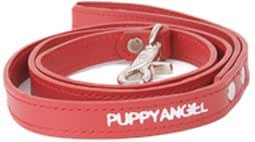 Puppy Angel Leather Coupler Lead, M, Red