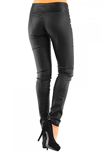 Pantaloni in similpelle da donna Skinny (Tubo no: 245) Nero