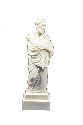 Hippokrates-Statue, kleine antike, griechische Skulptur,