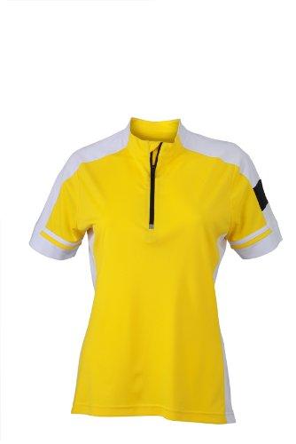 James & Nicholson - T-Shirt De Sport Femme Jaune (Sun-Yellow)