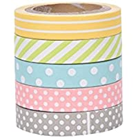 outflower 5rollos Fresh Lovely Candy colores DIY rollos de cinta adhesiva adhesivo adhesivo adhesivos cintas