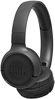 JBL Tune T500BT Powerful Bass Bluetooth Wireless On-Ear Headphones with Mic - Black