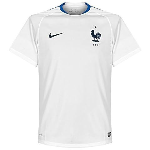 Nike FFF Flash SS Top T-Shirt Officiel M Blanco / Azul / Negro