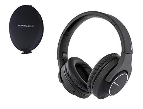 PowerLocus Casque Bluetooth sans Fil,Casque Audio [30 Heures Jeux] avec Micro Integré/Idéal en Ecouteur Sport Et Running/Casque/Casque TV sans Fil, Compatible iPhone/Samsung/Android/Windows (Noir)