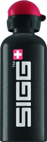 Sigg Trinkflasche SIGGnature, Schwarz, 0.6 Liter, Aluminium, BPA Frei