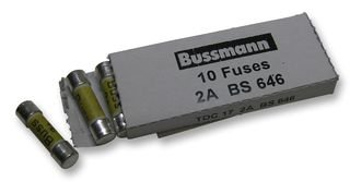 FUSE, MAINS ADAPTOR, BS646, 2A, X10 TDC17 2A By BUSSMANN BY EATON 2 Amp Bussmann Fuse