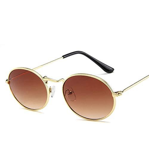 Sonnenbrillen Oval Women Sunglasses Men Glasses Lady Luxury Retro Metal Sun Glasses Vintage Mirror Uv400 Oculos De Sol, B