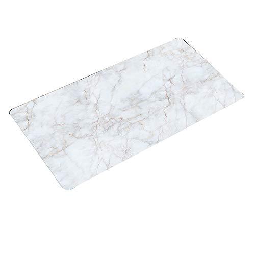 Protezione per copritavola in pvc tovaglia - tovaglia in pvc stile nordico articoli per la casa lastra di cristallo in vetro morbido - modello di giada bianca - adatto per tavolo da pranzo / tavolino