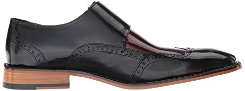 Stacy Adams Brewster Wingtip Leder Slipper Black/Burgundy