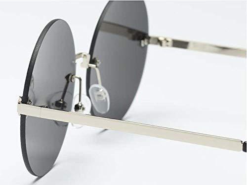 Neue Sonnenbrille mit Pfeil runden Metall Brille europäischen und amerikanischen Film Sonnenbrille Mode marine-yellow