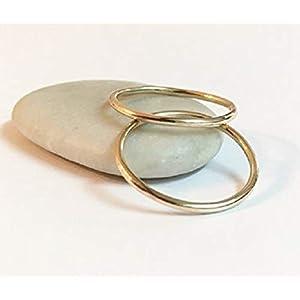 FloweRainboW Dünne Eheringe 585 Gold Im Klassischen Design – Hochzeitsringe/Trauringe/Verlobungsringe – Damen/Männer