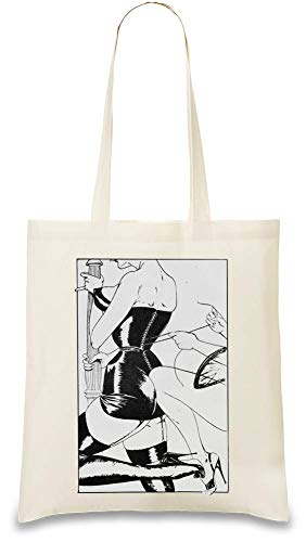 Fetisch Mädchen verkleiden sich - Fetish Girls Dressing Up Custom Printed Tote Bag| 100% Soft Cotton| Natural Color & Eco-Friendly| Unique, Re-Usable & Stylish Handbag For Every Day Use| ()