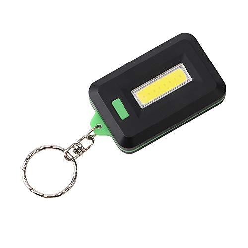 Dicomi 3 Modi COB LED Arbeitslicht Buchleuchte Schlüsselanhänger Lampe Taschenlicht Taschenlicht Geeignet für Familien Camping Bergsteigen Wandern Außenbeleuchtung Grün