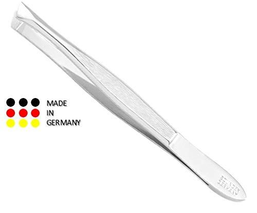 Schwertkrone Pinzette Profi Solingen 8 cm gekröpft abgewinkelt schräg Augenbrauen zupfen Germany (Schräg)