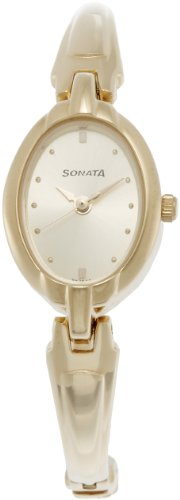 Sonata Analog Gold Dial Women's Watch - ND8048YM02 image