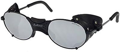 Gafas de sol Julbo Drus Negro Matt, Cuero desmontable Protectores Laterales, Lentes de policarbonato