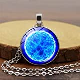 New Brand Jewelry 8 Style Charming Nebula galaxy space Glass Cabochon Silver Plated Long Pendant Necklace for Women Gift