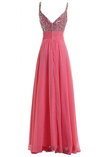 Sunvary Charming Spaghetti cinghie per vestiti da sera lungo Gowns Pageant sera Watermelon